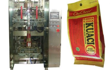 """M"" bentuk gusset bag packing machine"
