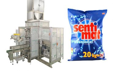 bubuk deterjen mbukak mouth bagger premade gedhe tas packing machine