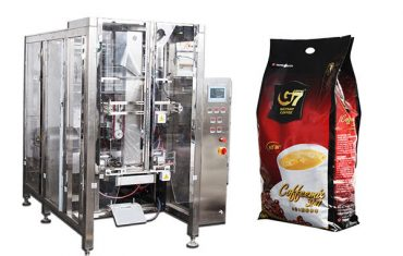otomatis quad seal bag packaging machine volumetric cup fill machine
