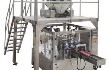 rotary otomatis zip bag fill seal packing machine for kacang kacang