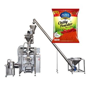 VFFS Bagger Packing Machine karo Filler Auger kanggo Paprika and Chilli Food powder